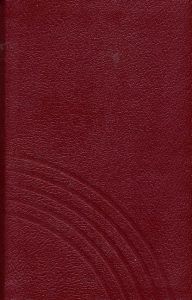 Gesangbuch Leder rot mit Goldschnitt Normalausgabe