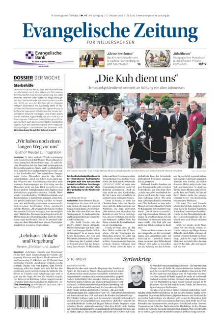 Evangelische Zeitung Niedersachsen - Leseprobe, die Evangelische Kirchenzeitung für Niedersachsen drei Wochen kostenlos und unverbindlich testen.