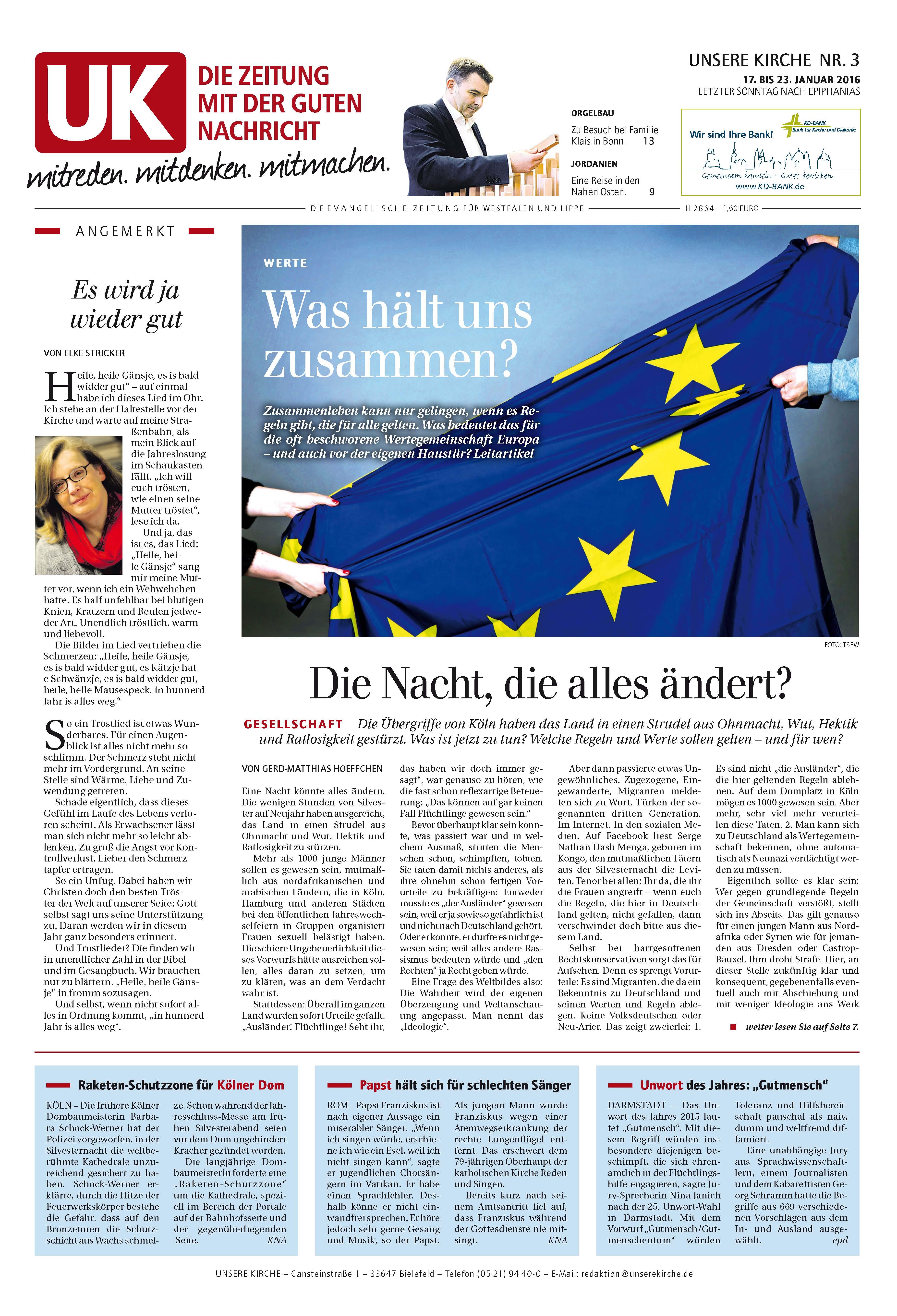 Kirchenzeitung UNSERE KIRCHE - Leseprobe