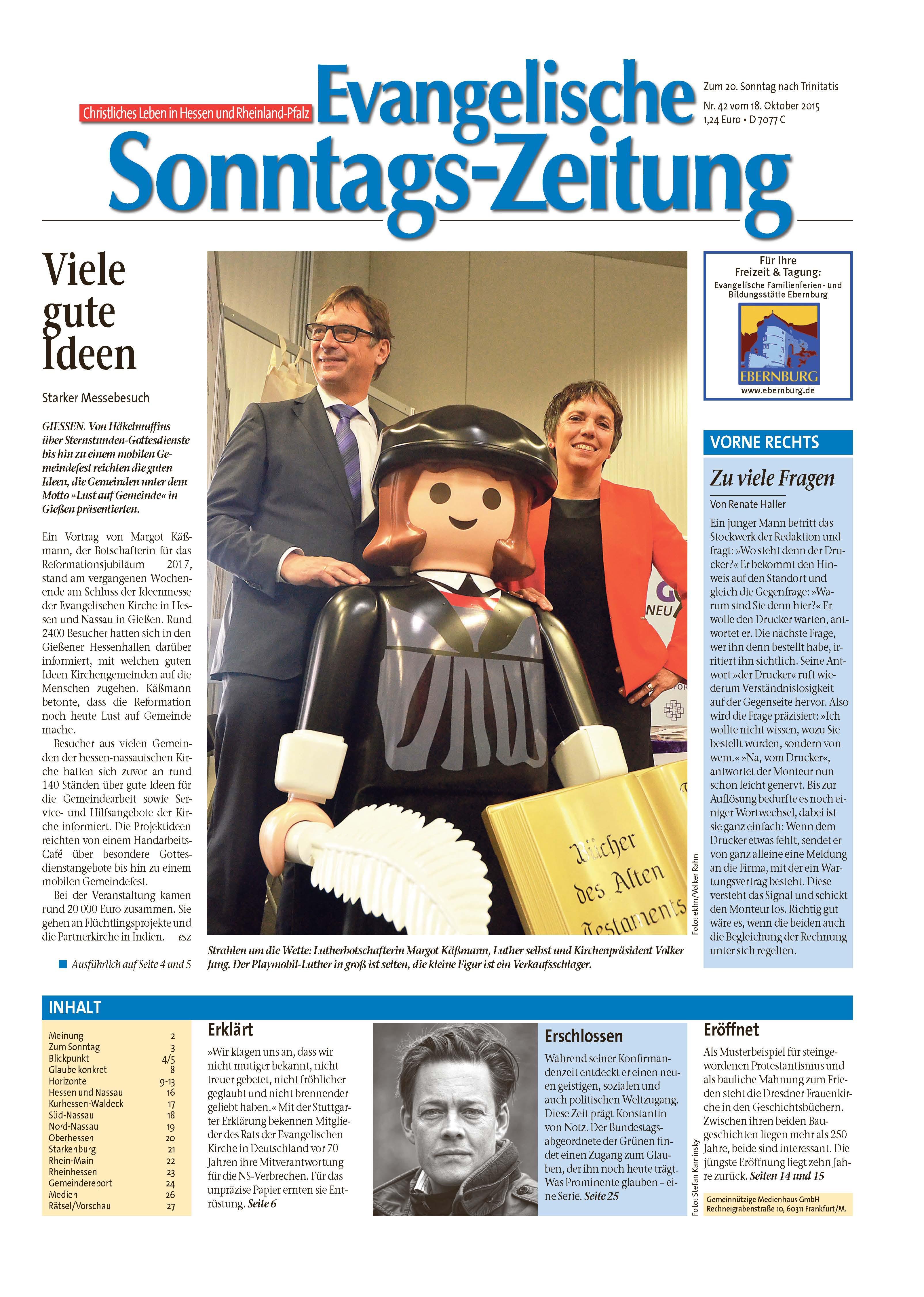 Evangelische Sonntags-Zeitung - Leseprobe