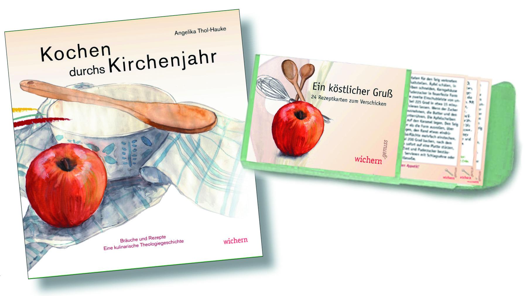 Kochbuch und Rezeptkarten Kombi