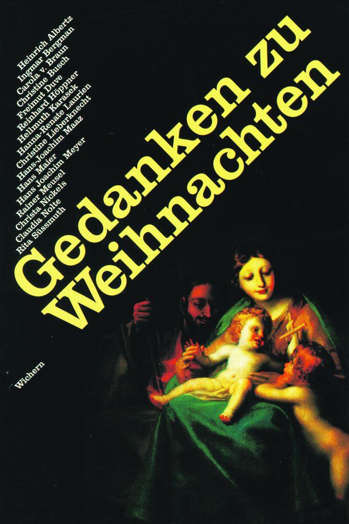 Gedanken Zu Weihnachten Wichern Verlag Gmbh
