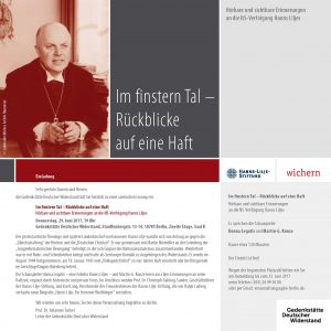 Einladung Lesung Hanns Lilje